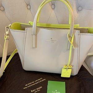 Like new Kate spade Small Loryn Beige/Neon bag